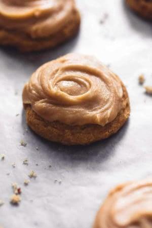 Pumpkin Cookies With Brown Sugar Frosting | lecremedelacrumb.com